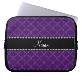 Personalized name Purple moroccan Laptop Sleeve