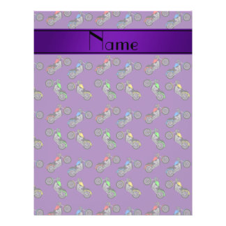 Personalized name purple motorcycles 21.5 cm x 28 cm flyer