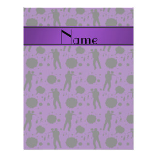 Personalized name purple paintball pattern 21.5 cm x 28 cm flyer