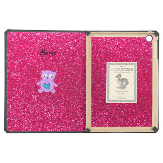 Personalized name purple panda pink glitter case for iPad air