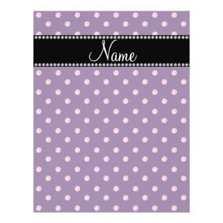 Personalized name Purple pink diamonds Custom Flyer