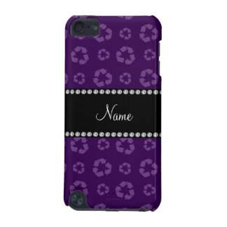 Personalized name purple recycling pattern iPod touch 5G covers