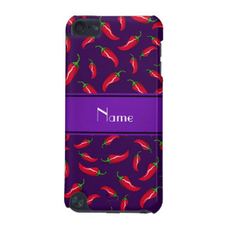 Personalized name purple red chili pepper iPod touch (5th generation) cases