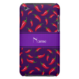 Personalized name purple red chili pepper iPod touch cover