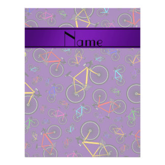 Personalized name purple road bikes personalized flyer