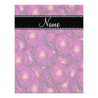 Personalized name Purple roses 21.5 Cm X 28 Cm Flyer