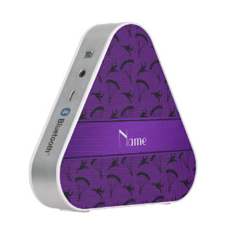 Personalized name purple skydiving pattern