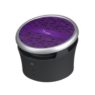 Personalized name purple skydiving pattern bluetooth speaker