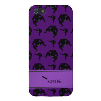 Personalized name purple sumo wrestling iPhone 5 cases