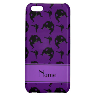 Personalized name purple sumo wrestling iPhone 5C cover