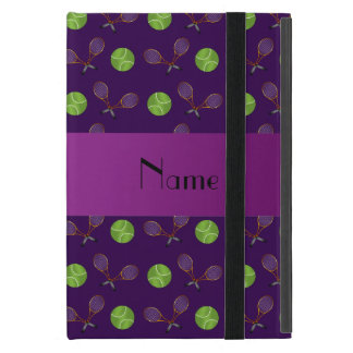 Personalized name purple tennis balls iPad mini case