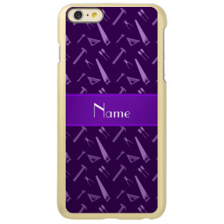 Personalized name purple tools pattern iPhone 6 plus case