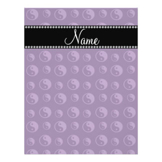 Personalized name purple ying yang pattern flyer design