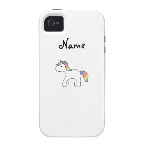 Personalized name rainbow baby unicorn vibe iPhone 4 covers