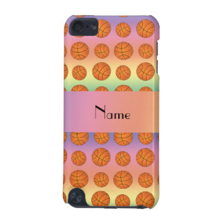 Personalized name rainbow basketballs iPod touch (5th generation) cases