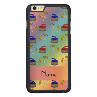 Personalized name rainbow curling pattern iPhone 6 plus case