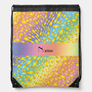Personalized name rainbow lightning bolts backpacks