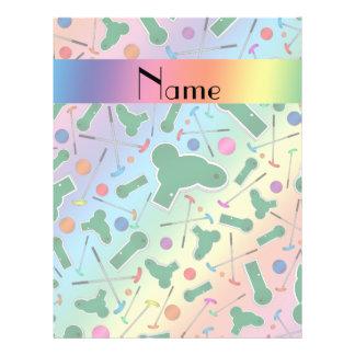 Personalized name rainbow mini golf flyer design