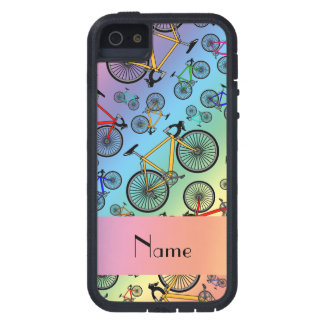 Personalized name rainbow road bikes tough xtreme iPhone 5 case