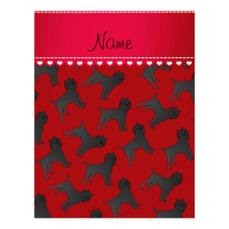 Personalized name red affenpinscher dogs 21.5 cm x 28 cm flyer