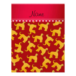 Personalized name red afghan hound dogs 21.5 cm x 28 cm flyer