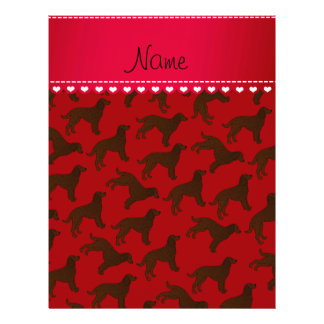 Personalized name red american water spaniels 21.5 cm x 28 cm flyer