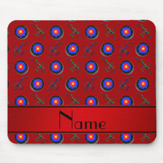 Personalized name red archery mouse pad
