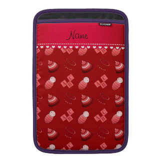 Personalized name red baby blocks mobile toys MacBook air sleeves