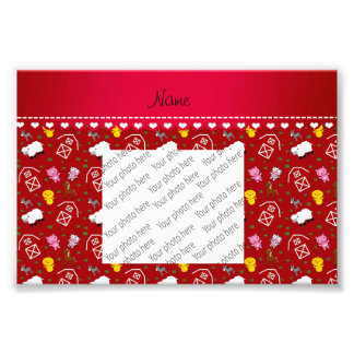 Personalized name red barn animals photo