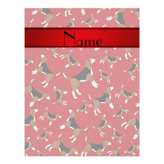 Personalized name red beagle dog pattern 21.5 cm x 28 cm flyer