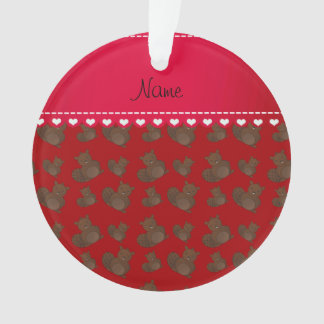 Personalized name red beaver pattern