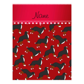 Personalized name red Bernese Mountain dogs 21.5 Cm X 28 Cm Flyer