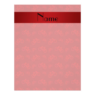 Personalized name red bicycle pattern custom flyer