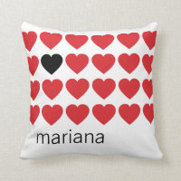 Personalized Hearts Pillows