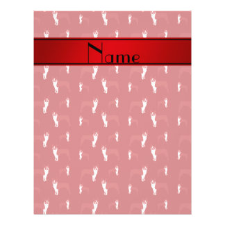 Personalized name red boston terrier 21.5 cm x 28 cm flyer