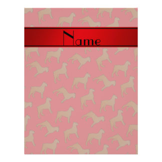 Personalized name red Bouvier des Flandres dogs 21.5 Cm X 28 Cm Flyer