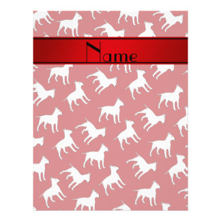 Personalized name red bull terrier dogs 21.5 cm x 28 cm flyer