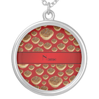 Personalized name red butter tarts pendant