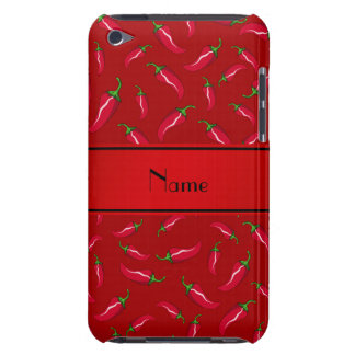 Personalized name red chili pepper iPod touch covers