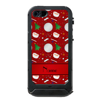 Personalized name red christmas golfing incipio ATLAS ID™ iPhone 5 case