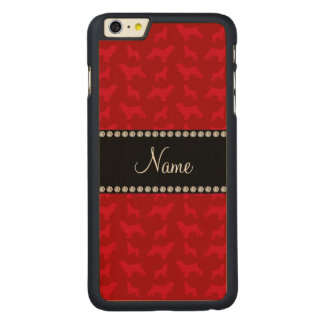 Personalized name red cocker spaniel carved® maple iPhone 6 plus slim case