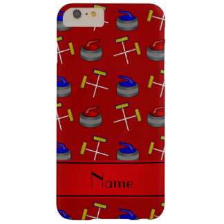 Personalized name red curling pattern barely there iPhone 6 plus case