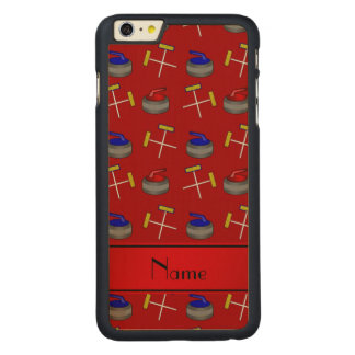 Personalized name red curling pattern iPhone 6 plus case