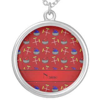 Personalized name red curling pattern custom jewelry