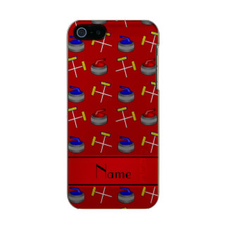 Personalized name red curling pattern incipio feather® shine iPhone 5 case