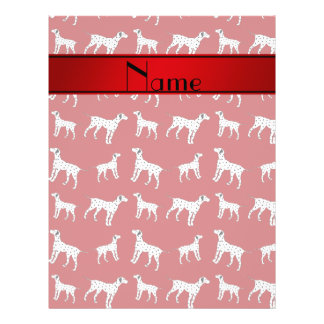 Personalized name red dalmatian dogs 21.5 cm x 28 cm flyer