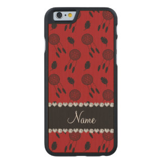 Personalized name red dreamcatchers carved® maple iPhone 6 case
