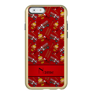 Personalized name red firemen trucks ladders incipio feather® shine iPhone 6 case