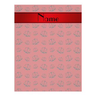 Personalized name red justice scales 21.5 cm x 28 cm flyer