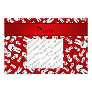 Personalized name red karate pattern photo